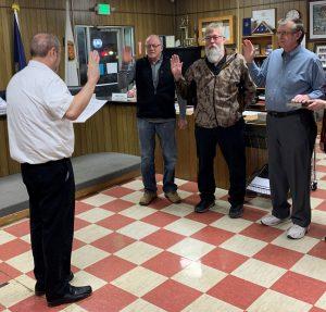 Steve Briggs, Fred Petrini & Chuck Silbaugh Oath of Office