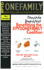 PYDONEFAMILY 3-8-20 Pancake Breakfast